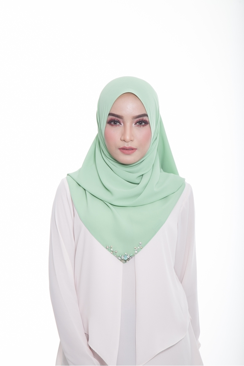 Picture of Qathy Shawl Apple Green