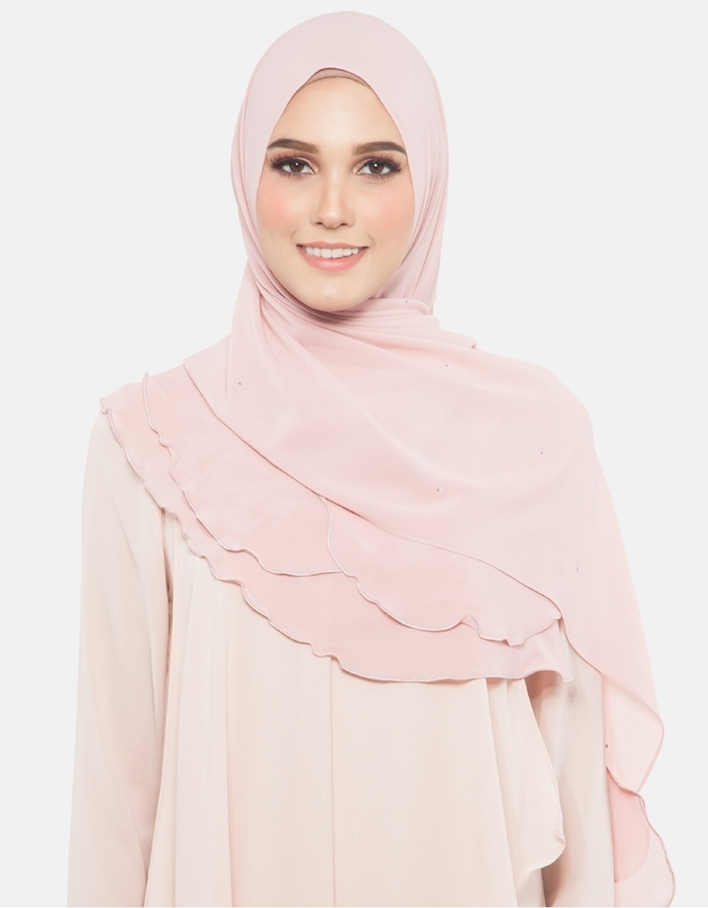 Picture of Azra Jewel Shawl in Blush Pink