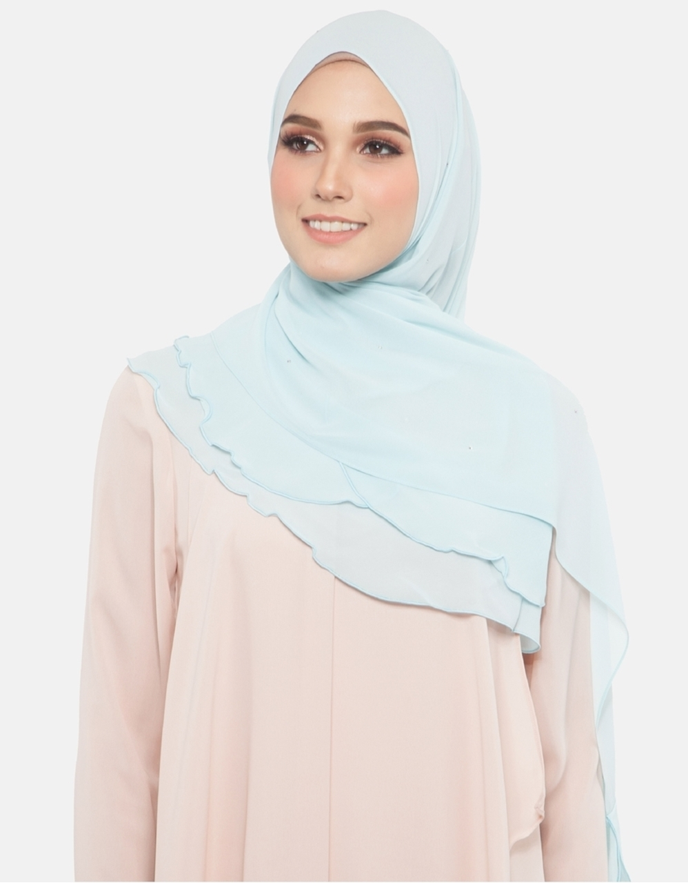 Picture of Azra Jewel Shawl in Baby Blue