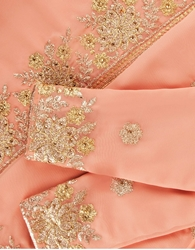 Picture of Zahra Lux Saree Kurung in Sweet Peach (PRE-ORDER)