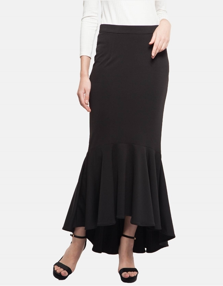 Picture of Vivienne Fishtail Skirt in Deep Black