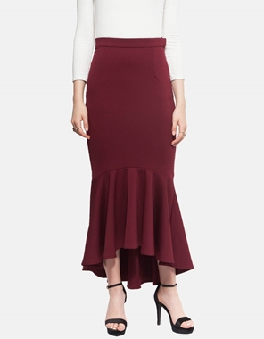 Picture of Vivienne Fishtail Skirt in Scarlett