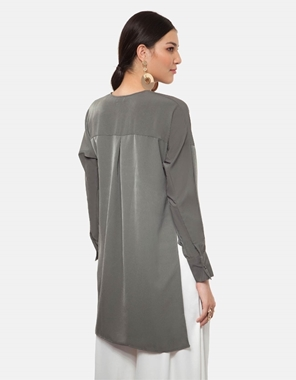 Picture of Tiffany Blouse in Ash Grey