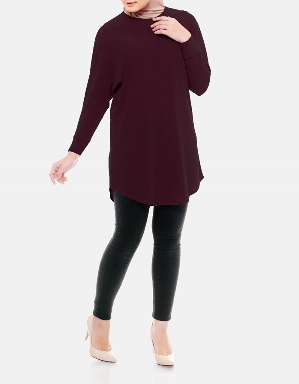 Picture of Sofea Yara Blouse in Shadow Purple