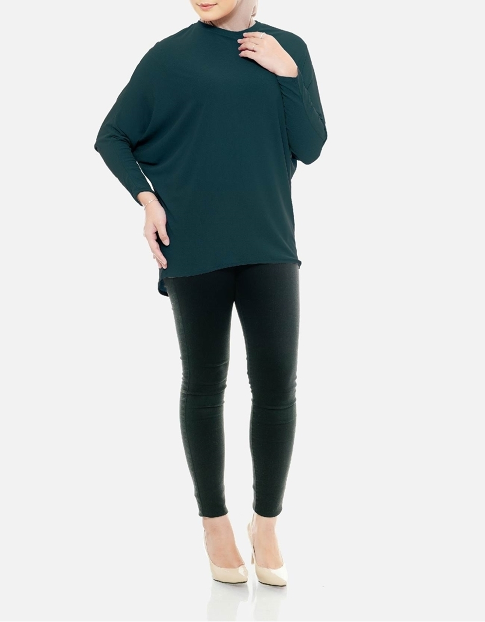 Picture of Sofea Batwing Blouse in Teal Green