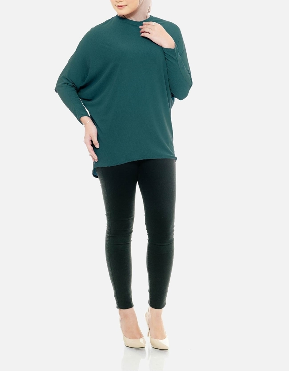 Picture of Sofea Batwing Blouse in Spruce Green