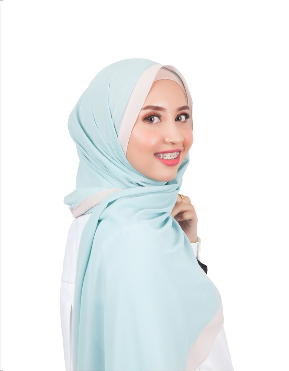 Zara Shawl In Mint Green | Neng Geulis